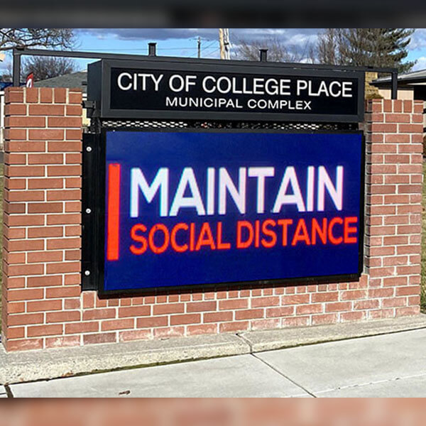 Municipal Sign for City Of College Place