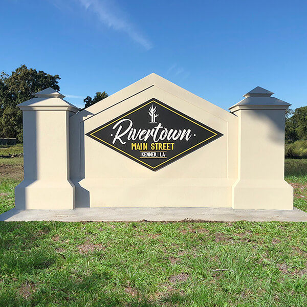 Municipal Sign for City Of Kenner - Rivertown Main Street