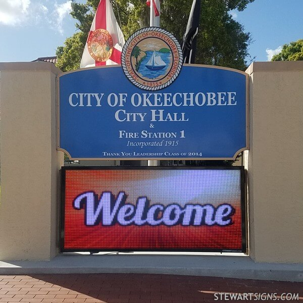 Municipal Sign for City Of Okeechobee