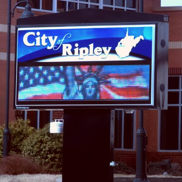 Municipal Sign for City Of Ripley
