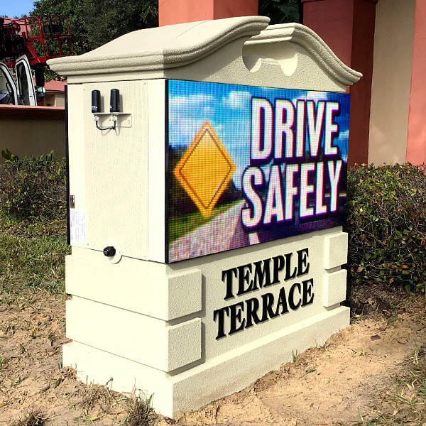 Municipal Sign for City Of Temple Terrace