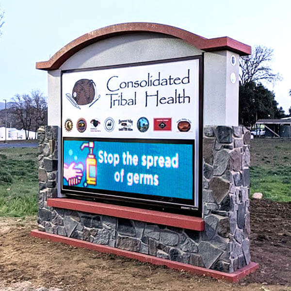Municipal Sign for Consolidated Tribal Health