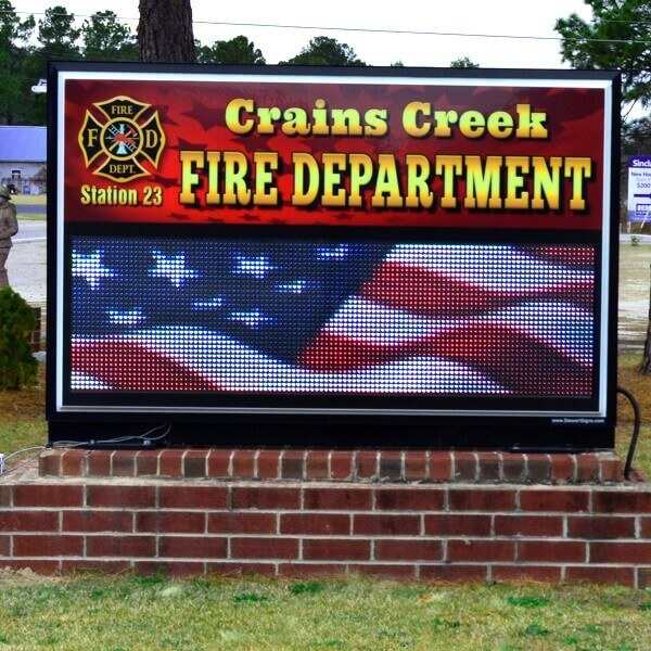 Municipal Sign for Crains Creek Fire Department