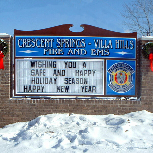 Municipal Sign for Crescent Springs - Villa Hills Fire & E M S
