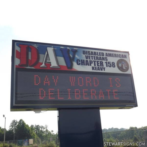 Civic Sign for Disabled American Veterans