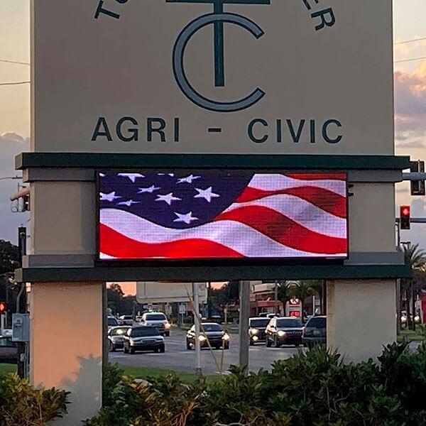 Civic Sign for Turner Agri Civic Center