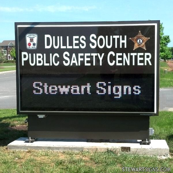 Municipal Sign for Dulles South Public Safety Center