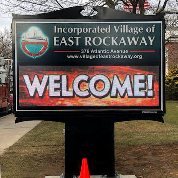Municipal Sign for East Rockaway Fire Department