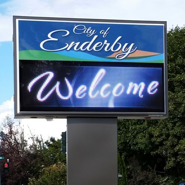Municipal Sign for City Of Enderby