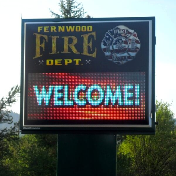 Municipal Sign for Fernwood Fire Department