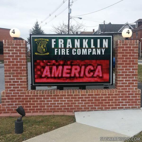Municipal Sign for Franklin Fire Department