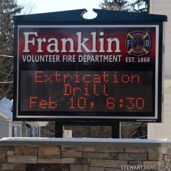 Municipal Sign for Franklin Vol Fire Dept