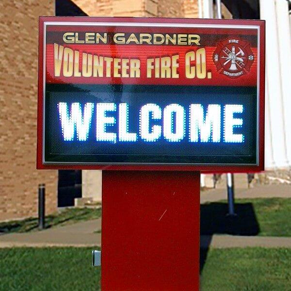 Municipal Sign for Glen Gardner Vol. Fire Co