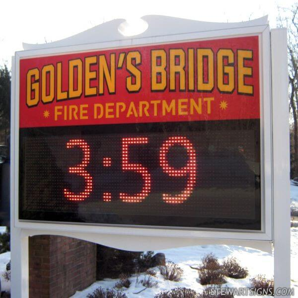 Municipal Sign for Goldens Bridge Fire District