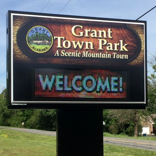 Municipal Sign for Town Of Grant