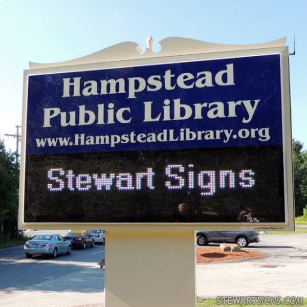 Municipal Sign for Hampstead Public Library