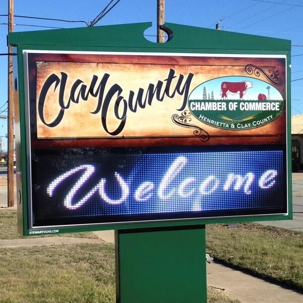 Municipal Sign for Henrietta Chamber Of Commerce