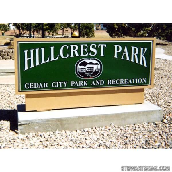 Municipal Sign for Hillcrest Park