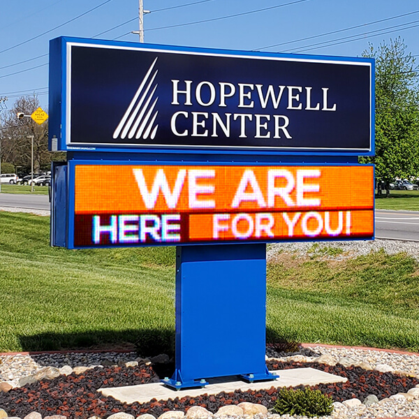 Civic Sign for Hopewell Center, Inc.