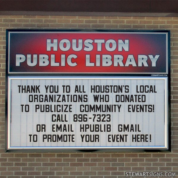 Municipal Sign for Houston Public Library