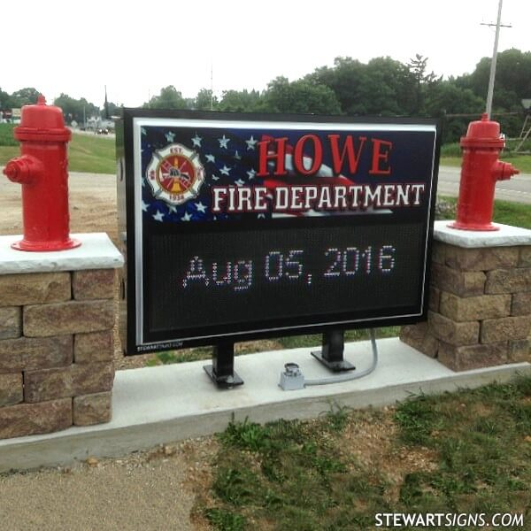 Municipal Sign for Howe Fire Department