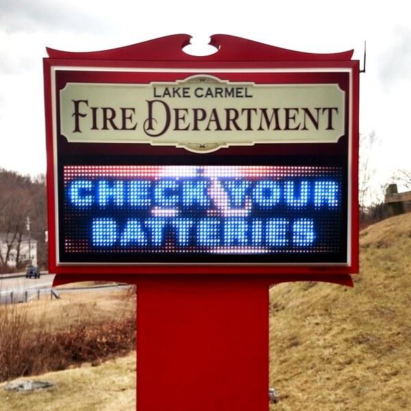 Municipal Sign for Lake Carmel Fire Department
