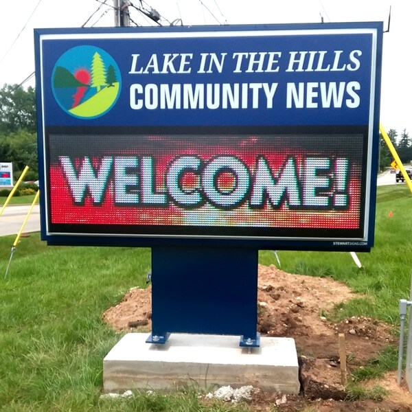 Municipal Sign for Village Of Lake In The Hills