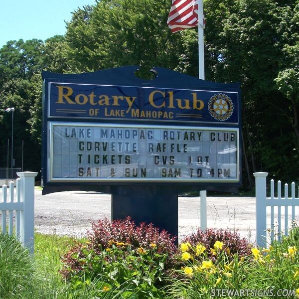 Civic Sign for Lake Mahopac Rotary