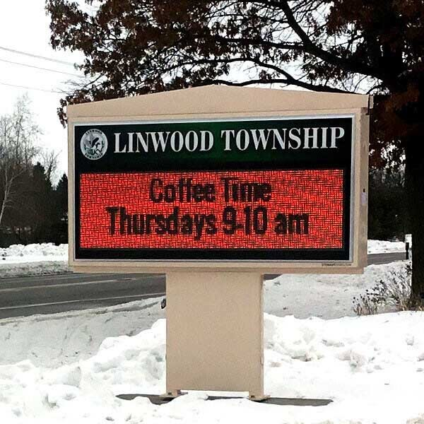 Municipal Sign for Linwood Township