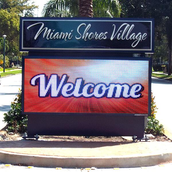 Municipal Sign for Miami Shores Village
