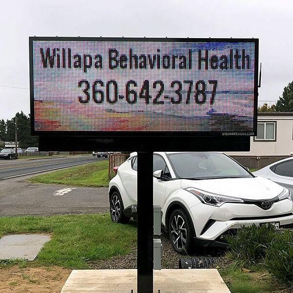 Municipal Sign for Willapa Behavioral Health
