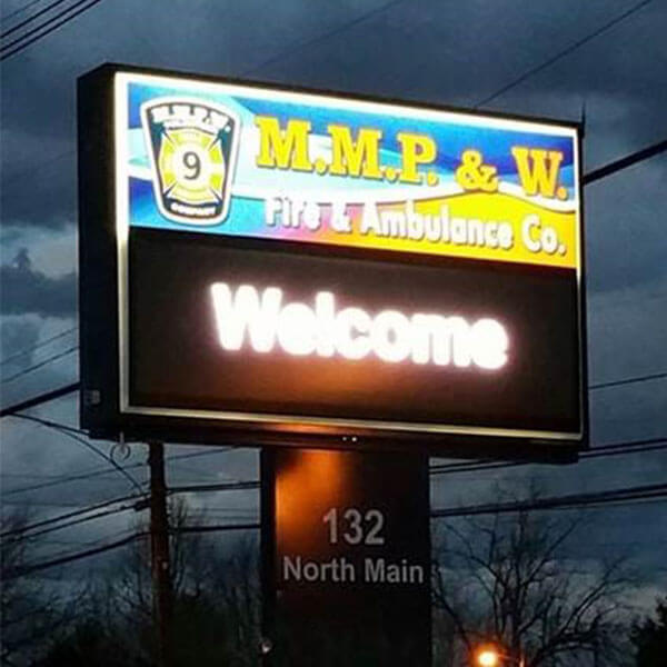 Municipal Sign for Mmp & W Volunteer Fire Company