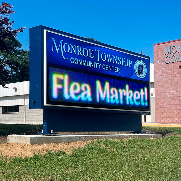 Civic Sign for Monroe Community Center