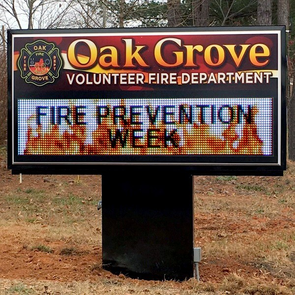 Municipal Sign for Oak Grove Volunteer Fire Department