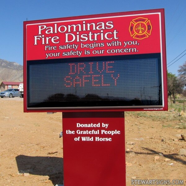 Municipal Sign for Palominas Fire District