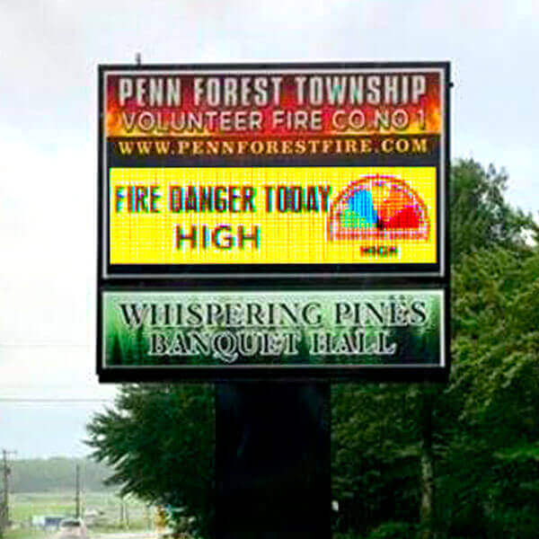 Municipal Sign for Penn Forest Township Volunteer Fire Co. #1