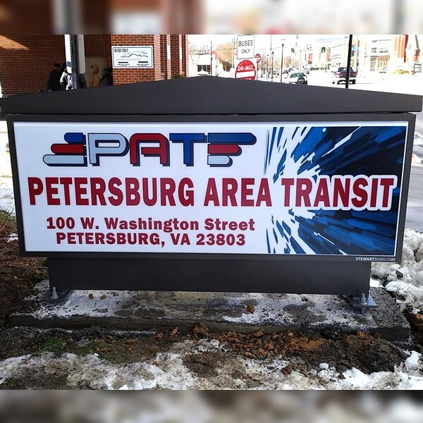 Municipal Sign for Petersburg Area Transit - Operations