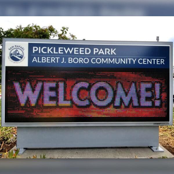 Municipal Sign for Pickleweed Park/albert J. Boro Community Center