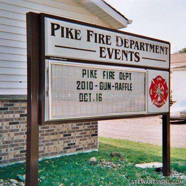 Municipal Sign for Pike Fire Department