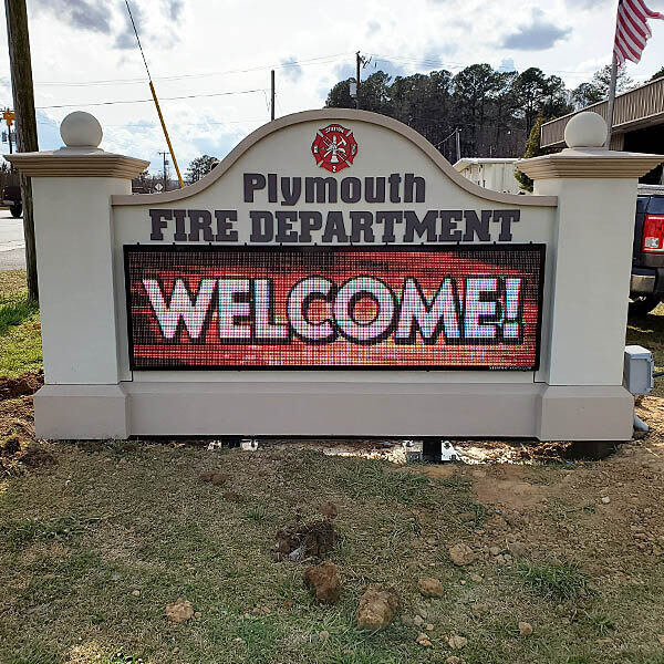 Municipal Sign for Plymouth Fire Department