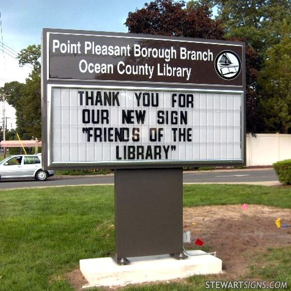 Municipal Sign for Point Pleasant Borough Library