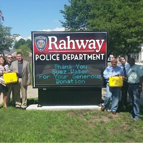 Municipal Sign for Rahway Police Department