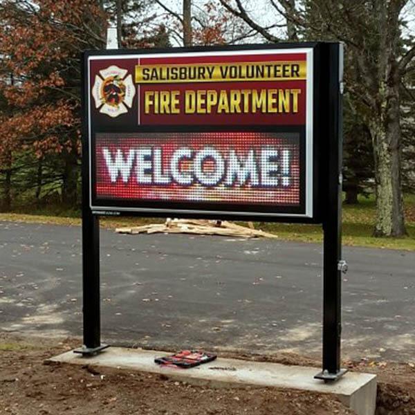 Municipal Sign for Salisbury Fire Department