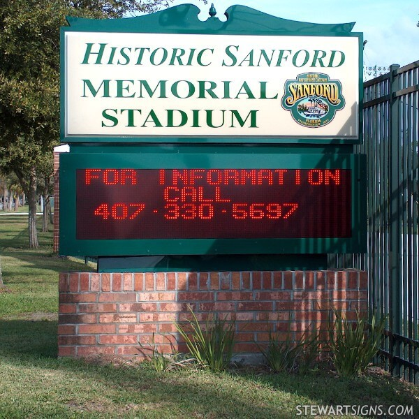Municipal Sign for Historic Sanford Memorial Stadium