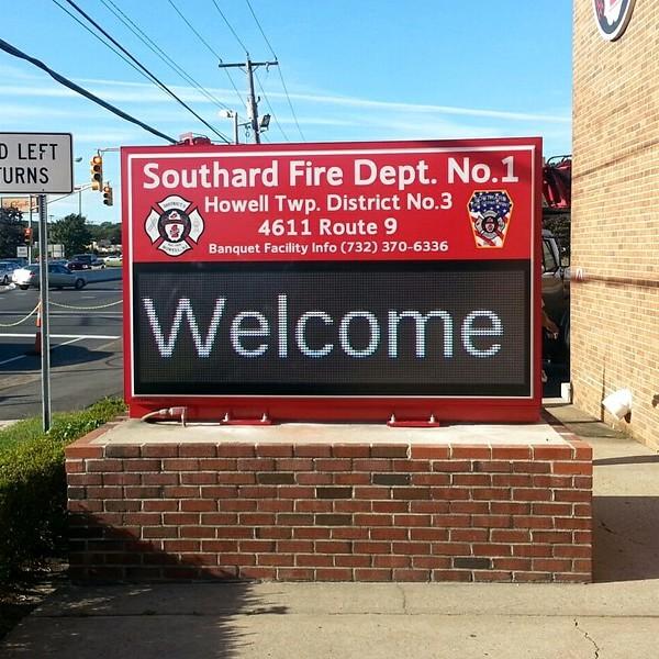 Municipal Sign for Southard Fire Dept. No. 1
