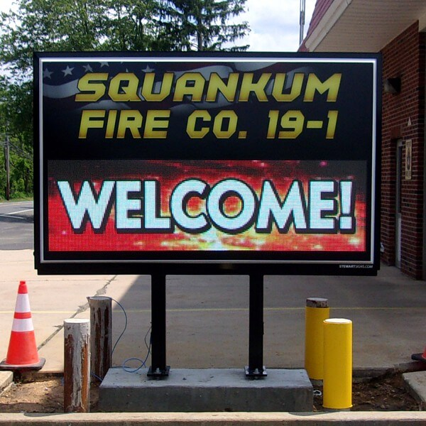 Municipal Sign for Squankum Fire Co #1