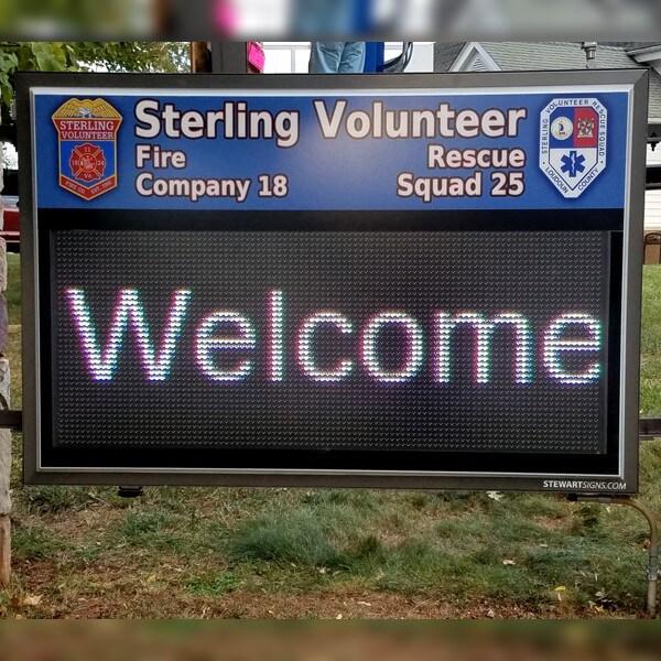 Municipal Sign for Sterling Park Safety Center, Inc