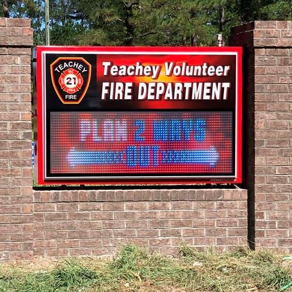 Municipal Sign for Teachey Volunteer Fire Department