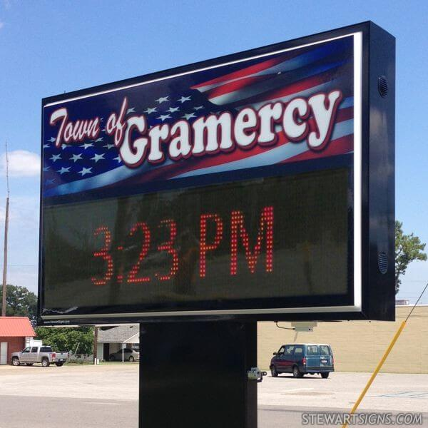 Municipal Sign for Town Of Gramercy
