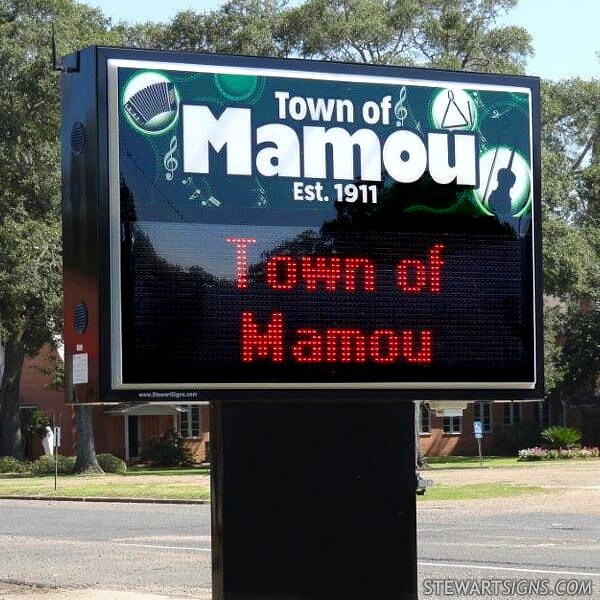 Municipal Sign for Town Of Mamou